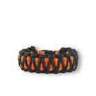 Orange-schwarzes Paracord Armband King Cobra