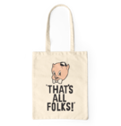 Canvas Tote Bag Looney Tunes™ That's All Folks