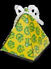 Pudełko na prezent w kształcie piramidy Dedoles