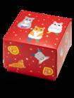 Štvorcová darčeková krabička Tancujúce škrečky