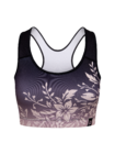 Živahni športni modrček Prelivajoče se rože