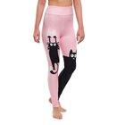 Vrolijke high-waisted leggings Roze kat