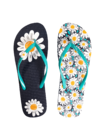 Flip Flops with Decoration Charm Daisy Blossom