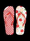 Tongs rigolotes avec décoration Pomme joyeuse
