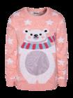 Veselý vánoční svetr Medvěd a hvězdy