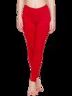Legging en coton rouge