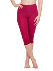 Bordeaux driekwart katoenen leggings