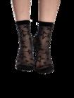 Veselé silonkové ponožky Černé hvězdy