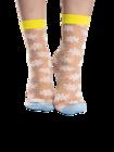 Chaussettes rigolotes en nylon Marguerites