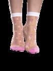 Nylon Socks Hearts & Flamingos