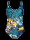 Весел дамски цял бански костюм Тропическа джунгла