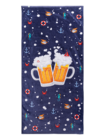 Veselý plážový uterák Pivo a čln