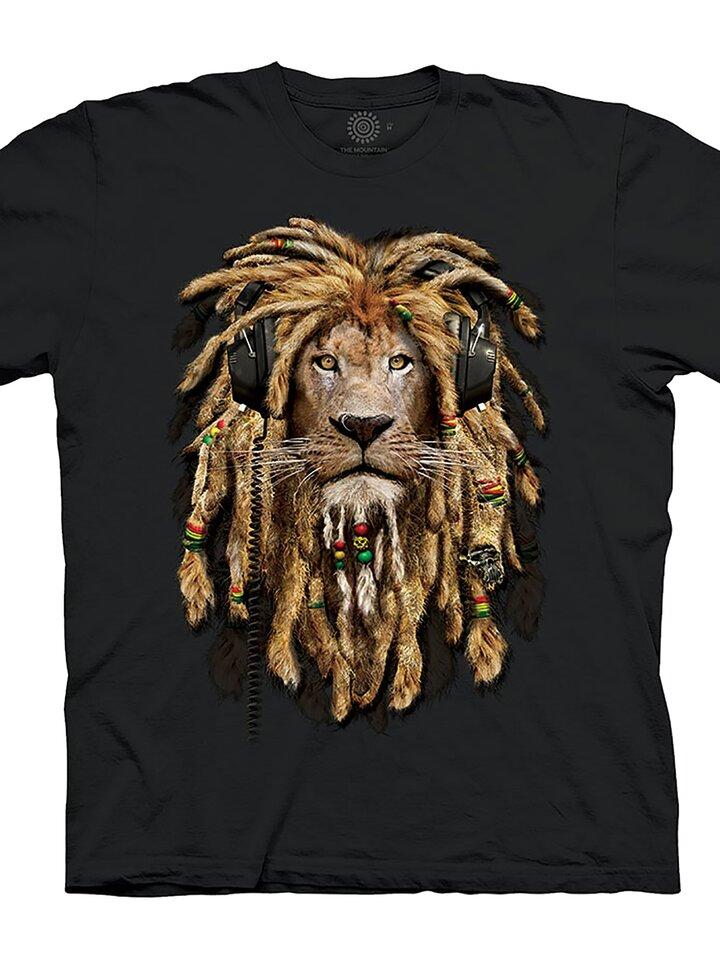 Potešte sa týmto kúskom Dedoles Čierne tričko Rasta lev