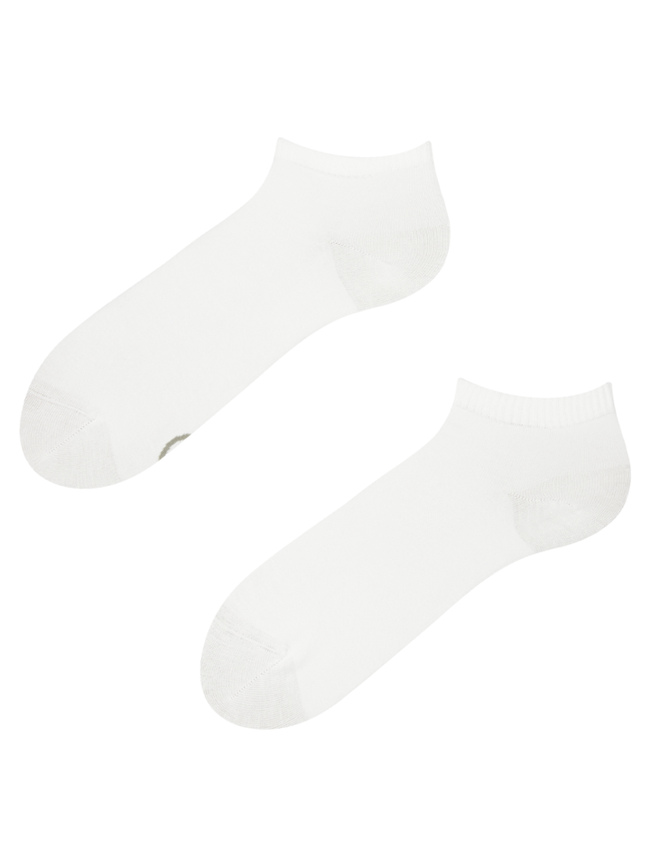 Sale White Bamboo Ankle Socks