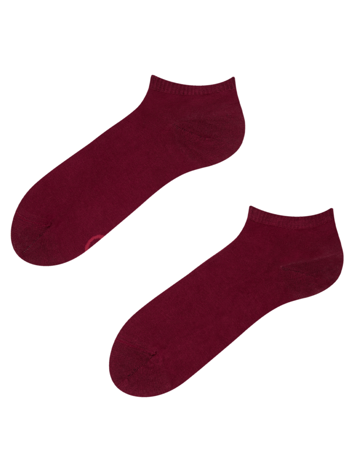 Sale Burgundy Bamboo Ankle Socks