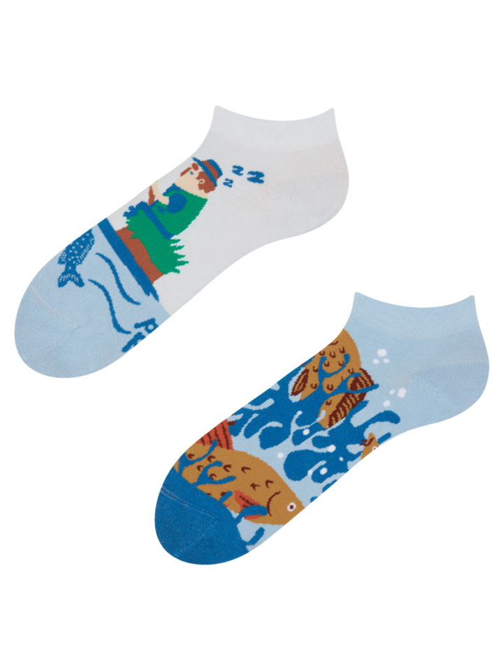 Výjimečný dárek od Dedoles Veselé kotníkové ponožky Rybolov
