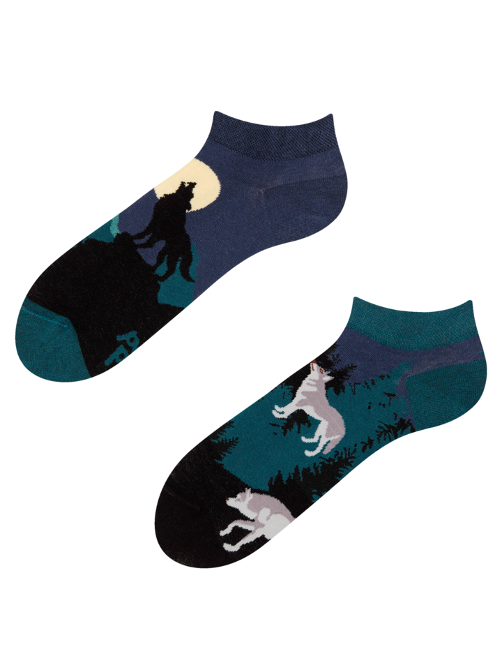 Sale Ankle Socks Moon Wolf