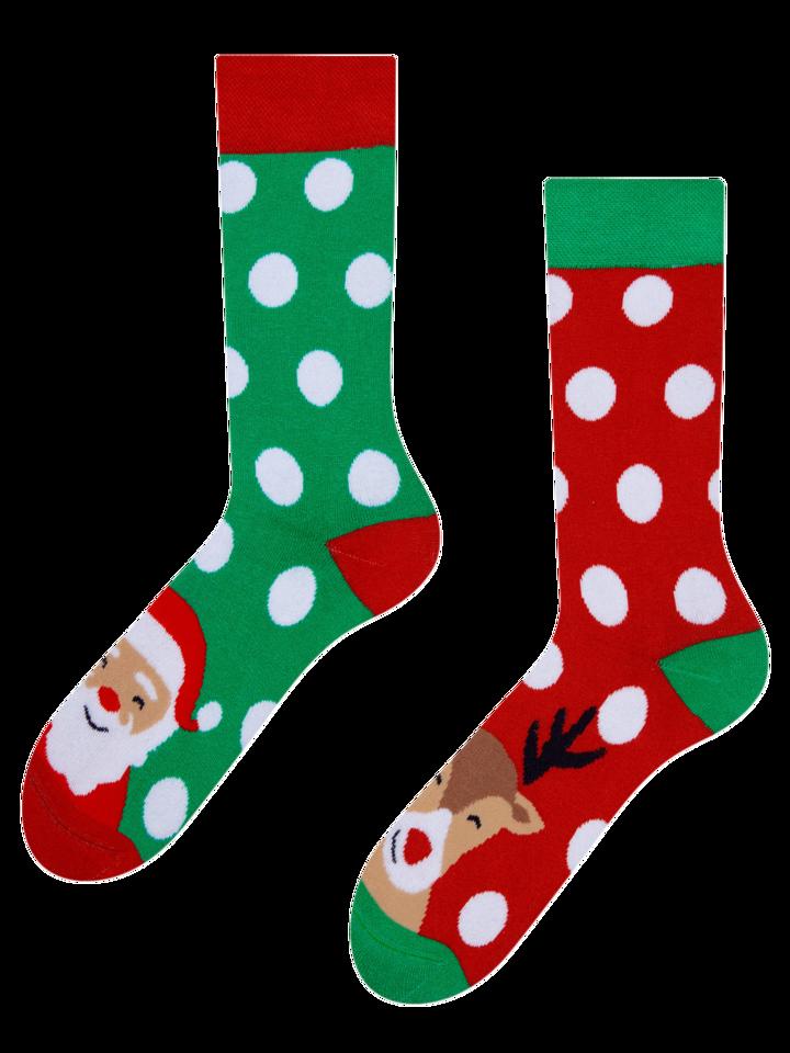 Kedvezmény Vidám meleg zokni Télapó és Rudolf