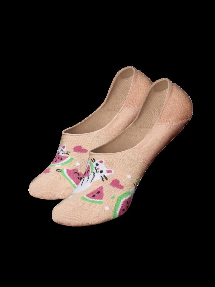 Gift idea No Show Socks Watermelon Cat