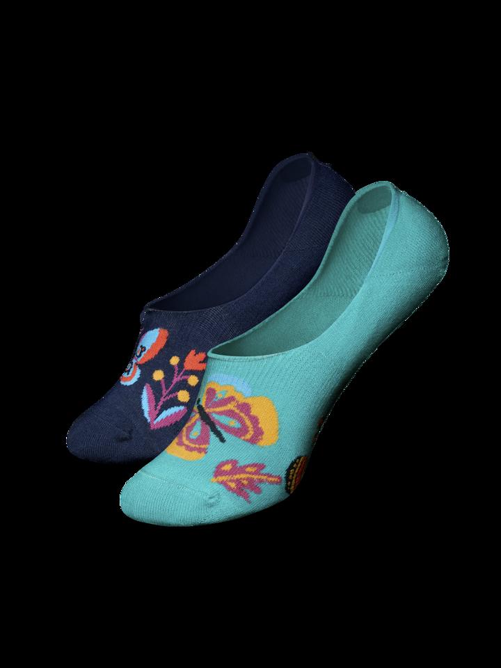 Výnimočný darček od Dedoles Calcetines invisibles alegres Mariposas