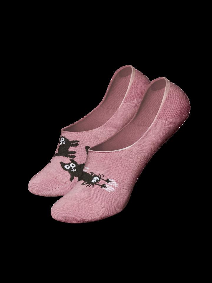 Ausverkauf Lustige No-Show-Socken Rosa Katzen