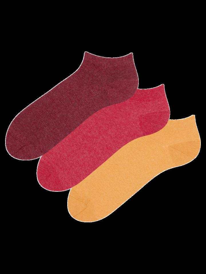 für ein vollkommenes und originelles Outfit 3er-Pack Knöchelsocken aus recycelter Baumwolle Extrovertiert