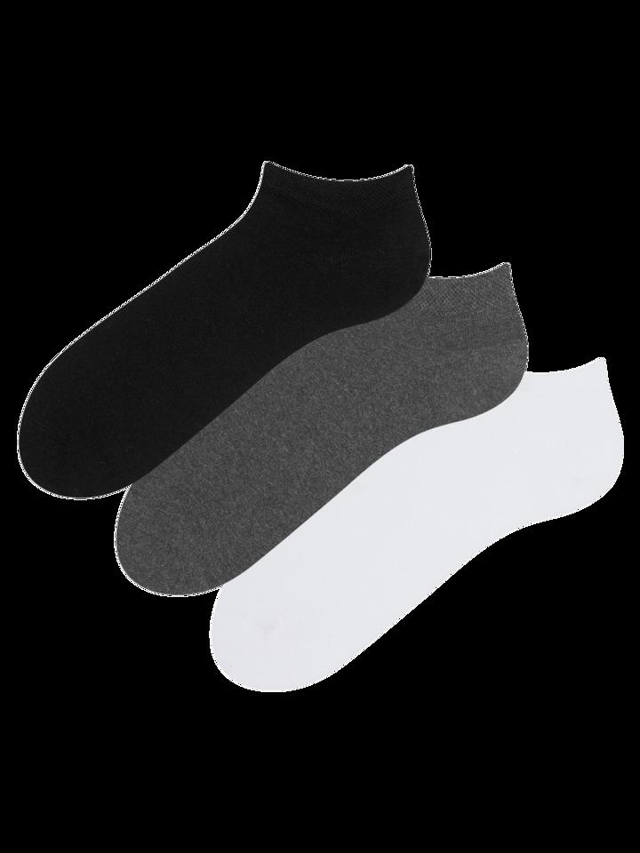 Lifestyle foto Trojbalení kotníkových ponožek z recyklované bavlny Klasik