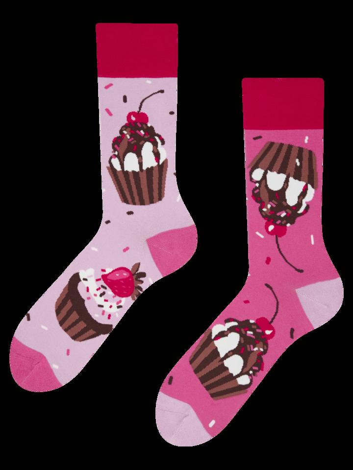 Lifestyle foto Veselé ponožky Růžové koláčky