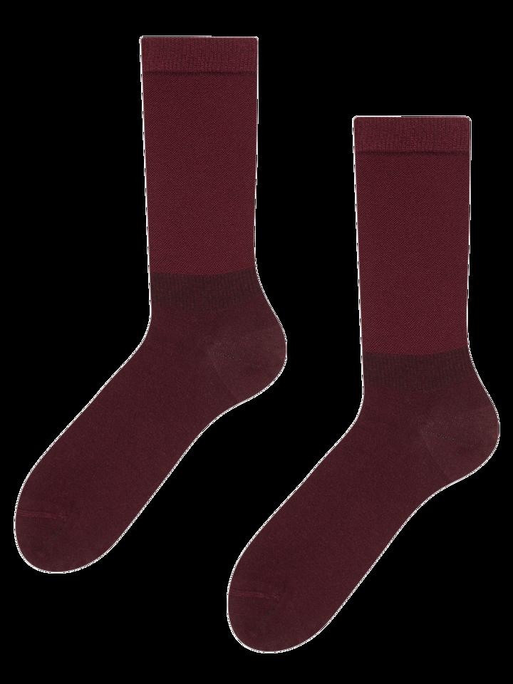 Original gift Wine Red Bamboo Socks Comfort