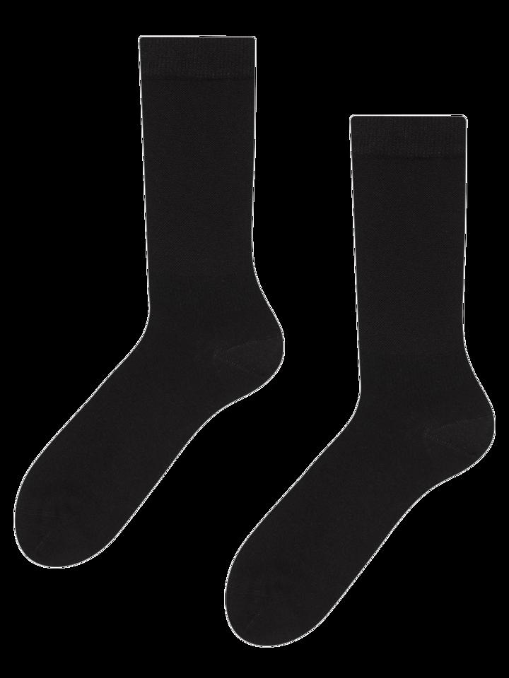 pro dokonalý a originální outfit Černé bambusové ponožky Komfort