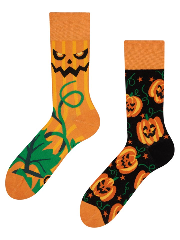 Sale Regular Socks Halloween Pumpkin