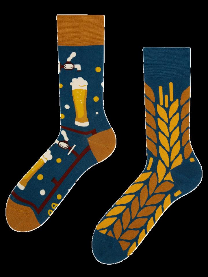 Pre dokonalý a originálny outfit Chaussettes rigolotes Temps pour la bière