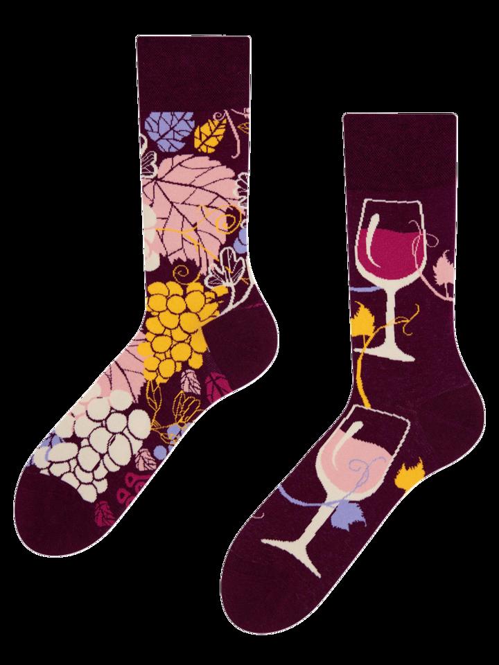 Reducerea Șosete Vesele Vin Roșu