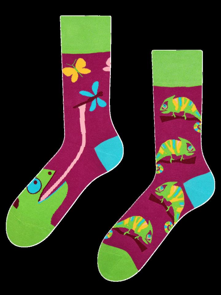 Pre dokonalý a originálny outfit Vrolijke sokken Kameleon