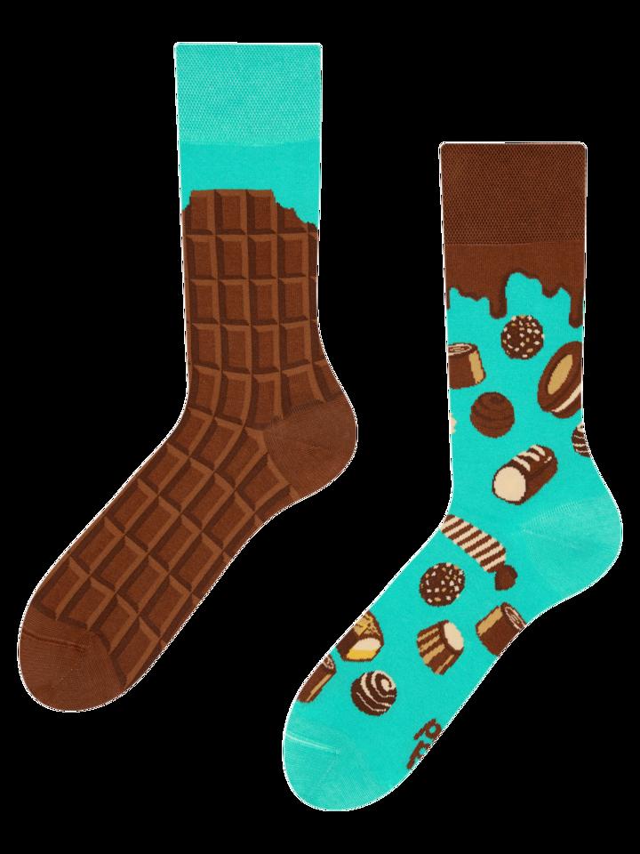 Eredeti ajándék a Dedolestől Vidám zokni Csokoládé