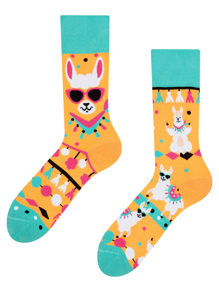Gift idea Regular Socks Cool Llama