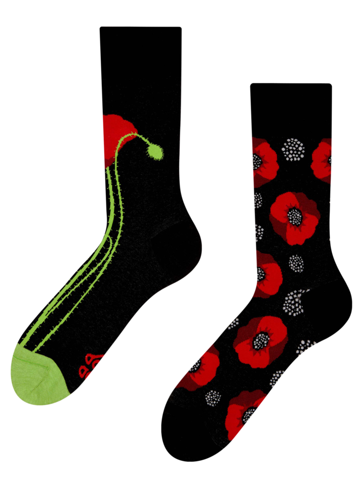 Gift idea Regular Socks Poppy Flower