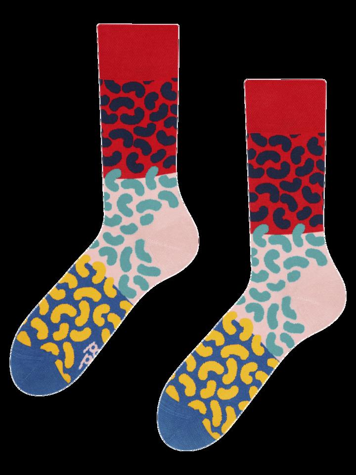 Lifestyle foto Vrolijke sokken Kleurrijke boontjes