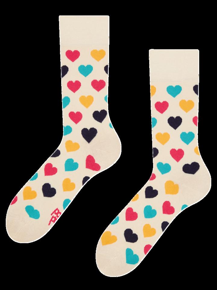 Obrázok produktu Vrolijke sokken Kleurrijke hartjes