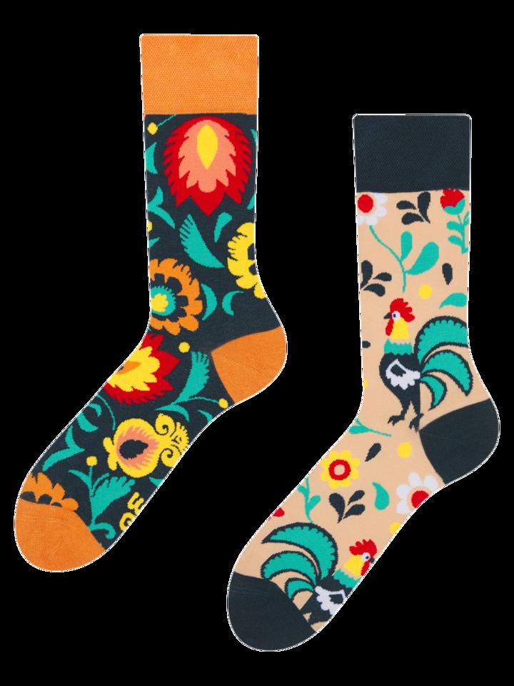 Pre dokonalý a originálny outfit Vrolijke sokken Folk haan