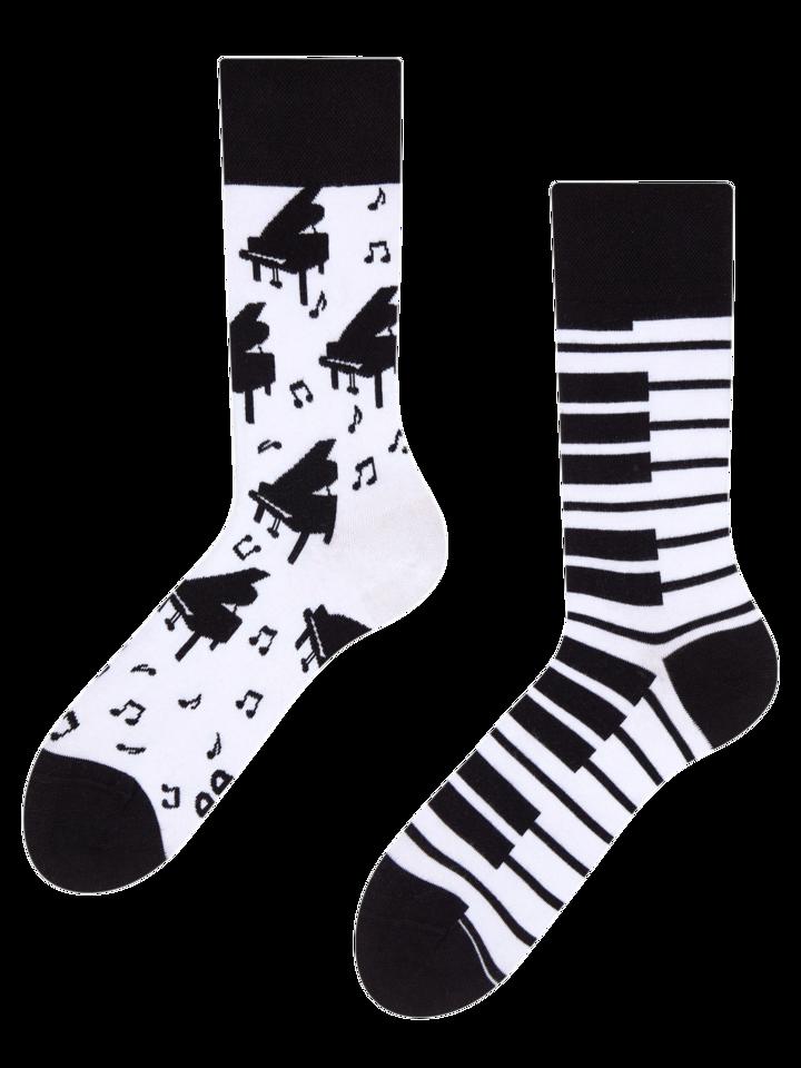 Pre dokonalý a originálny outfit Vrolijke sokken Piano