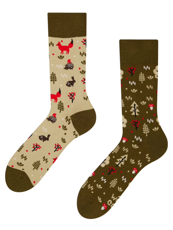Original gift Regular Socks Forest Fox