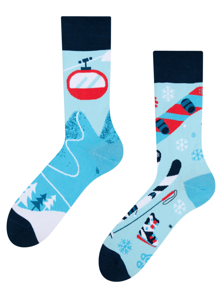 Looking for an original and unusual gift? The gifted person will surely surprise with Regular Socks Skiing