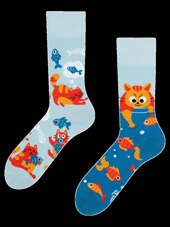 Potešte sa týmto kúskom Dedoles Vrolijke sokken - Katten & vissen