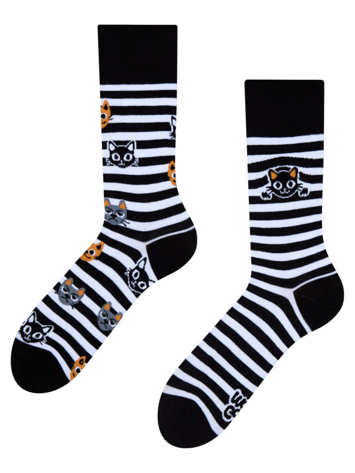 Looking for an original and unusual gift? The gifted person will surely surprise with Regular Socks Cats & Stripes
