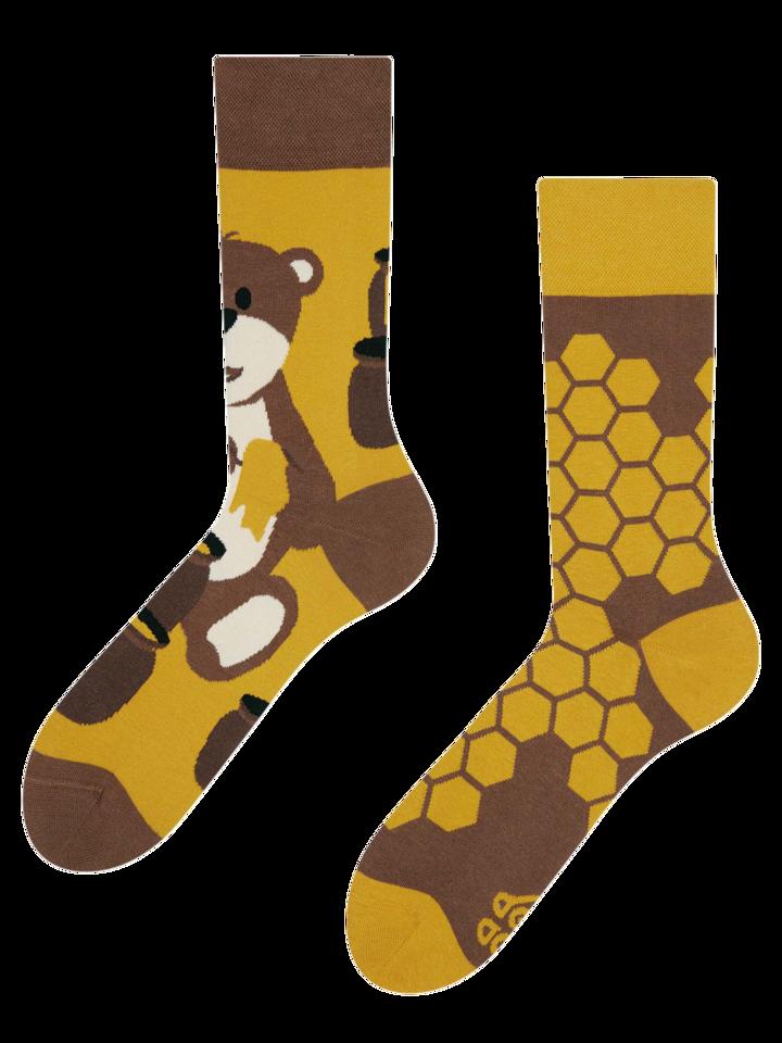 Výnimočný darček od Dedoles Vesele čarape Medvjed i med