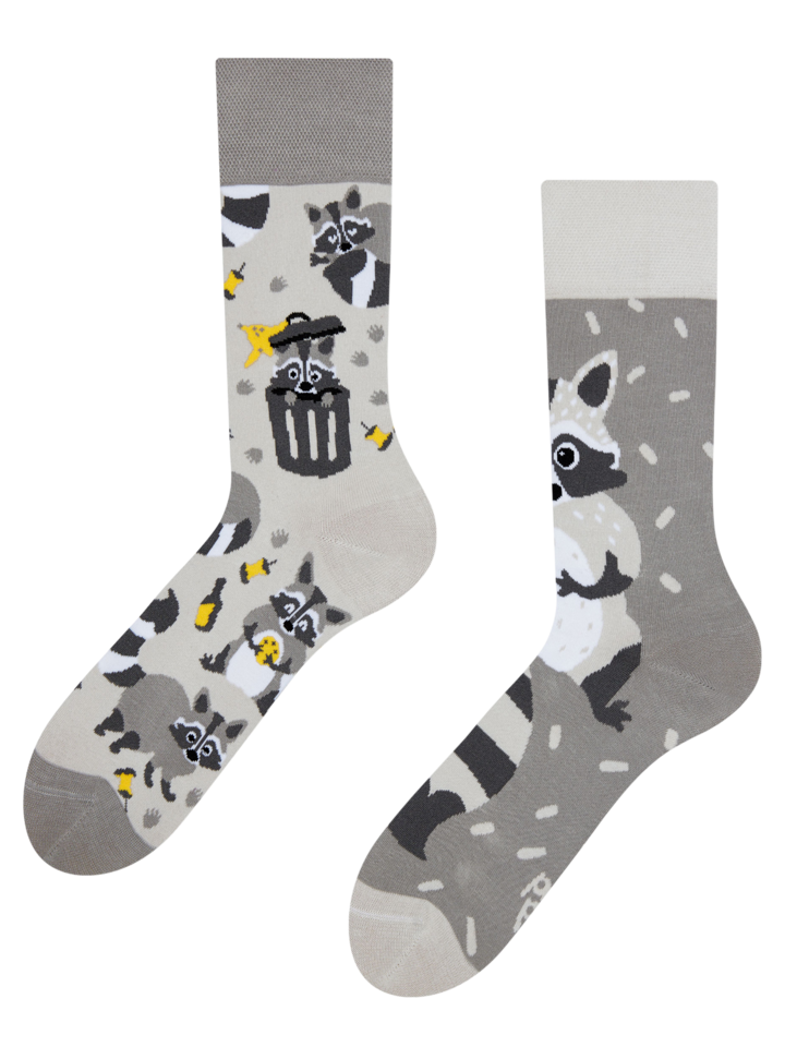 Bereiten Sie sich Freude mit diesem Dedoles-Stück Lustige Socken - Waschbär