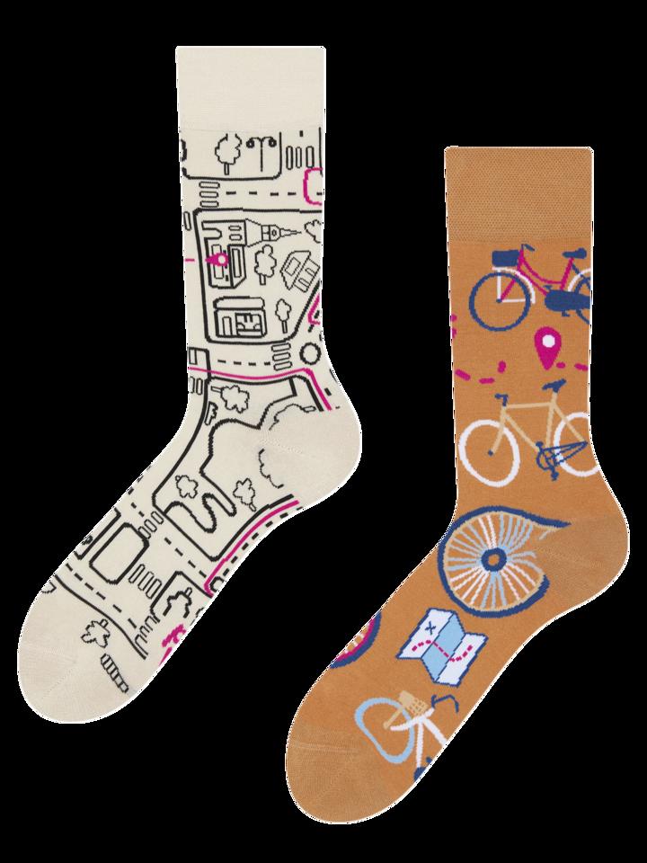 Eredeti ajándék a Dedolestől Vidám zokni Városi kerékpár