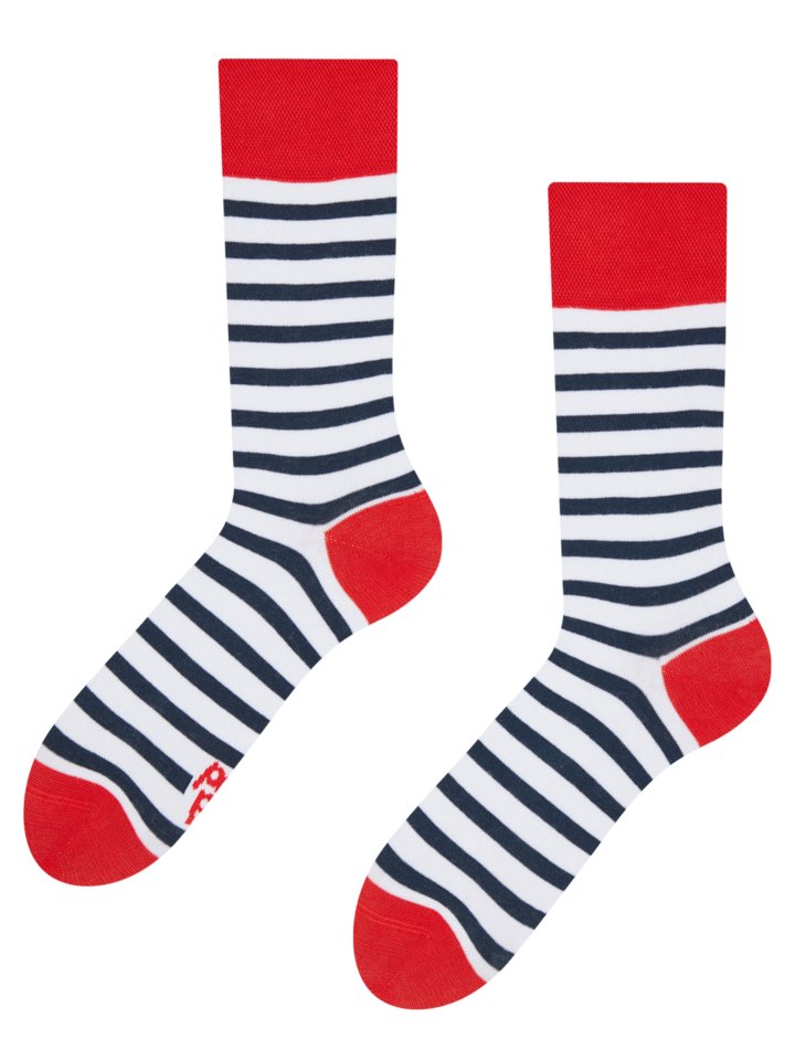 Sale Regular Socks Navy Stripes