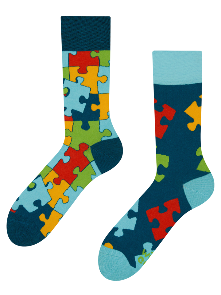Zľava Živahne nogavice Puzzle